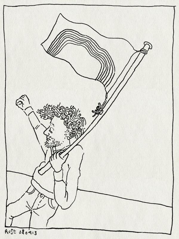 tekening 2145, amsterdam, betoog, gay, poetin, putin, regenboog, vlag