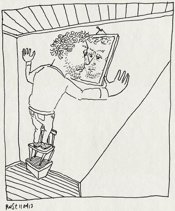 tekening 2148, lelijk, mislukt, perspectief, spiegel