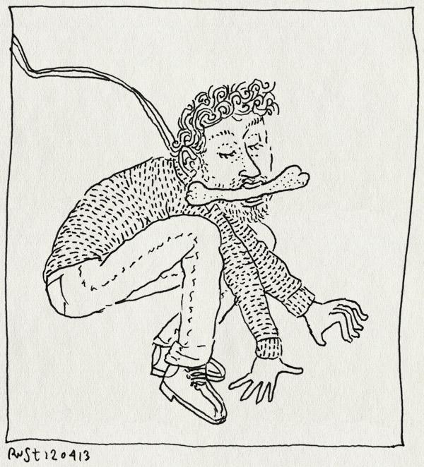 tekening 2149, animatie, bot, hond, lijn, reckon, rex