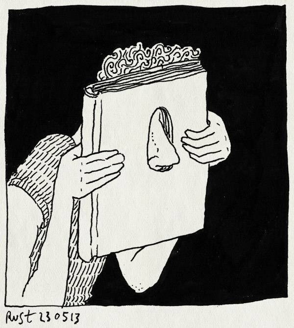 tekening 2190, boek, gat, neus