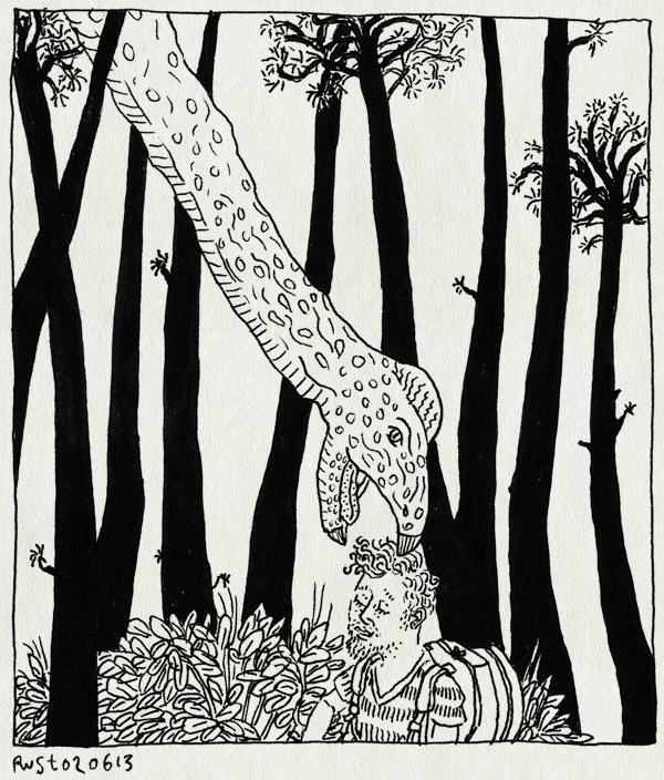 tekening 2200, bomen, boom, bos, dierenpark amersfoort, dinobos, dinopark, dinosaurus