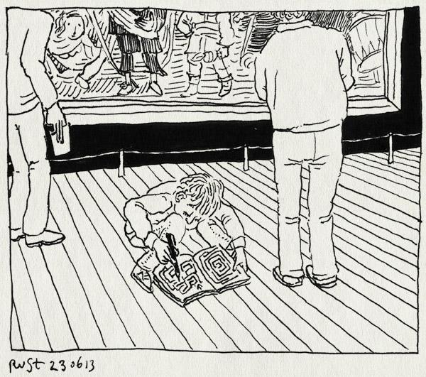 tekening 2221, doolhof, midas, nachtwacht, rijksmuseum, tekenen
