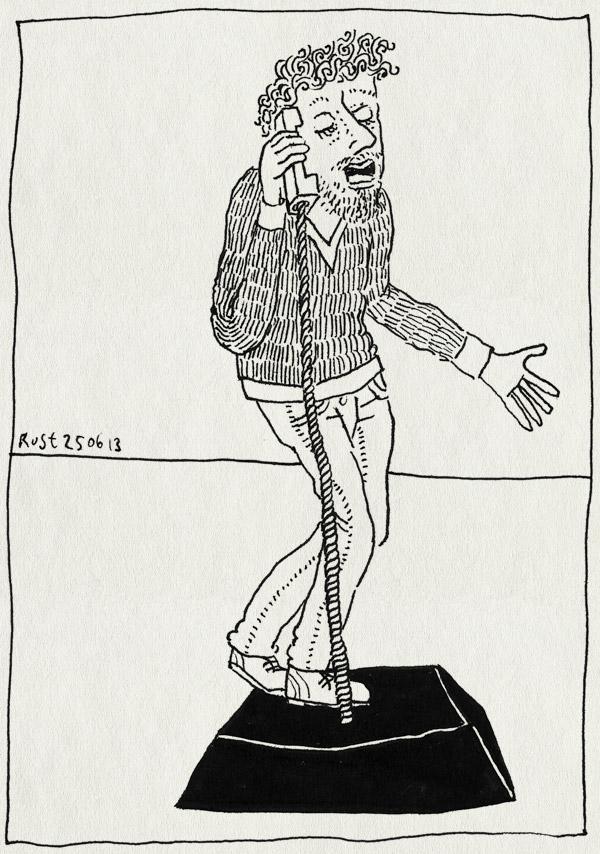 tekening 2223, bellen, burorust, nh49, primitief, stuk, vaste telefoon