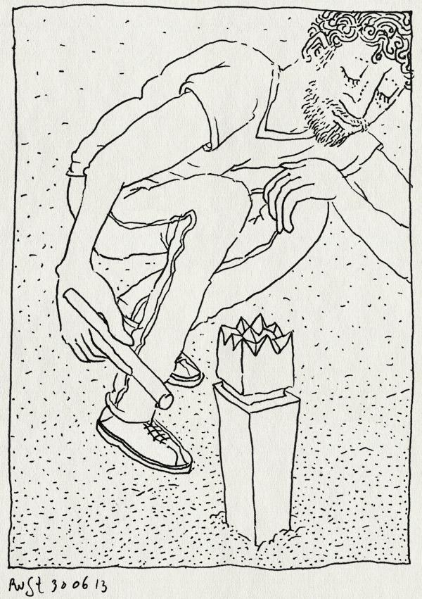 tekening 2228, bakkum, castricum, kubb, spel, spelen, strand