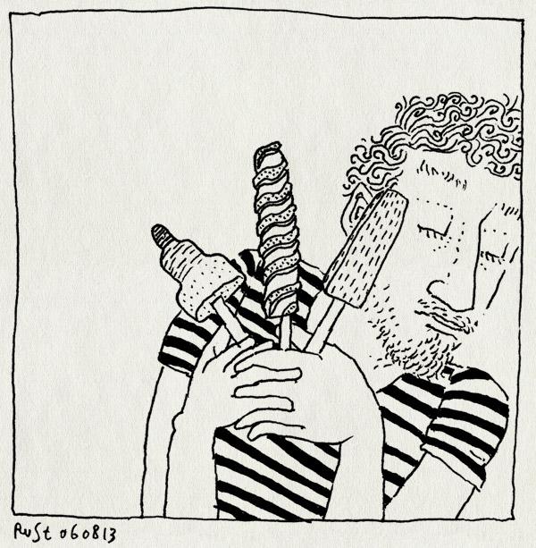 tekening 2265, ijsjes, lekker, perenijs, raket, twister, warm, zomer