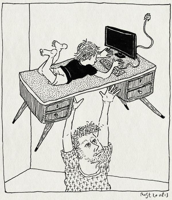 tekening 2279, bureau, computer, formica, gooien, jaren 60, joepie, midas, tillen, verbouwen