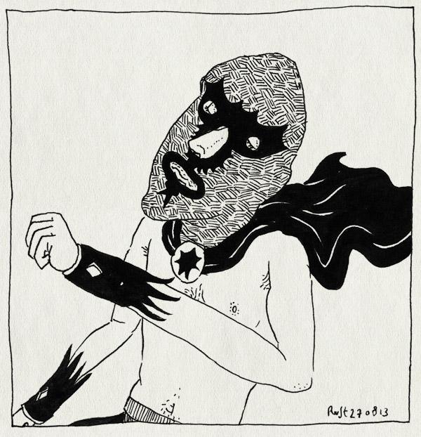 tekening 2286, cape, feest, kostuum, mexicaanse worstelaar, nh49, wrestling