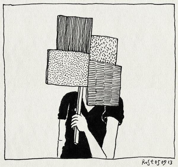 tekening 2295, bordje, censuur, feest, masker, nh49, pixel, vierkanten, vlakken