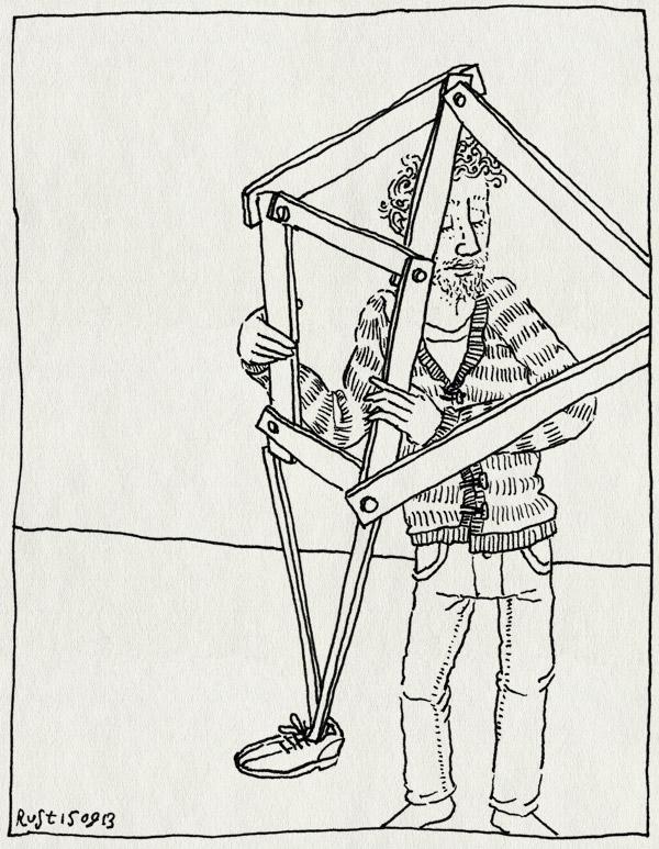tekening 2305, been, evolutie, hout, maten, theo janssen