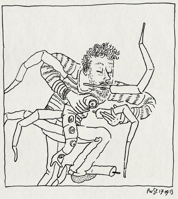 tekening 2307, benen, knutselen, leven, spelen, tentakels, theo janssen