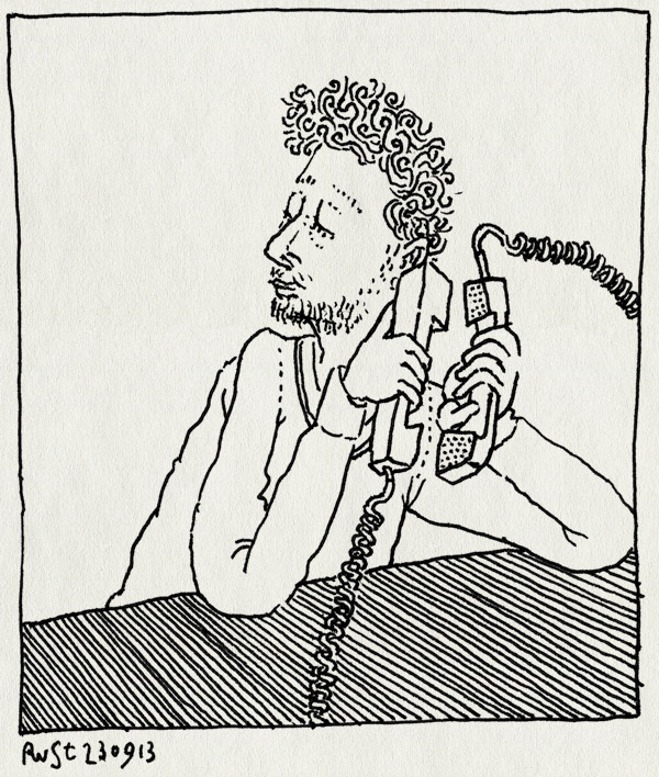 tekening 2313, blabla, conference call, telefoneren, werk