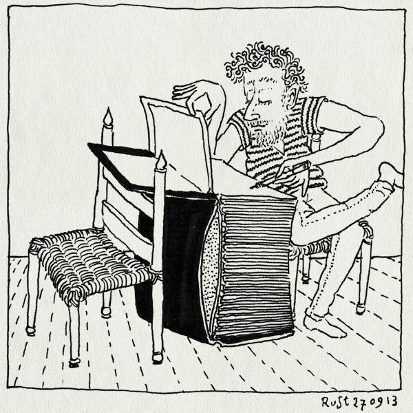 tekening 2317, 2500, boek, dik, elkedagrust, tafel