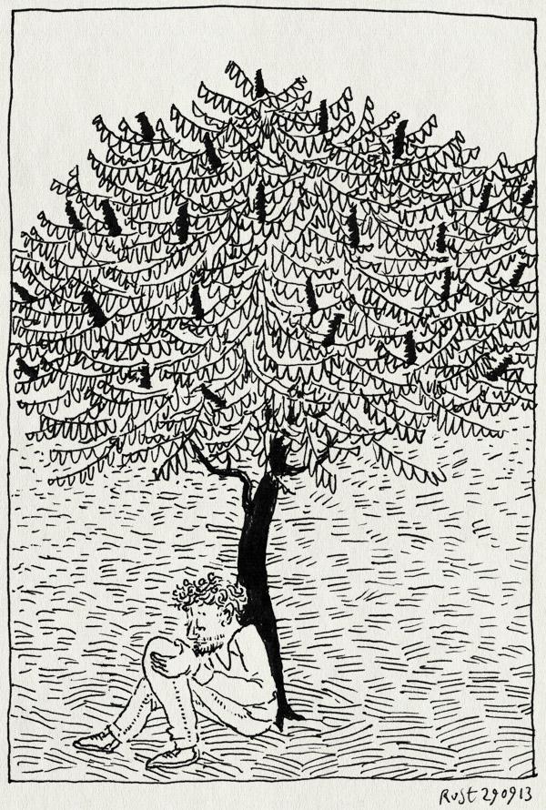 tekening 2319, denken, fluweelboom, herinnering, papa, schilderij, wil