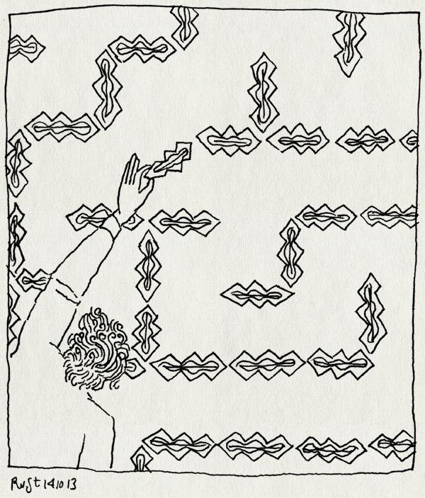 tekening 2334, doolhof, keramiek, kunstwerk, magneten, nh49, pilar, pilarmayorga