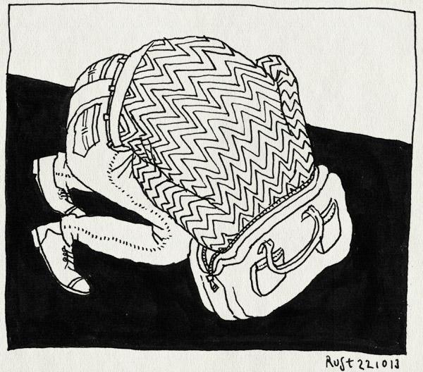 tekening 2342, egel, hoofd, india, mcflurry, tas, vast, voorbereiding, weg