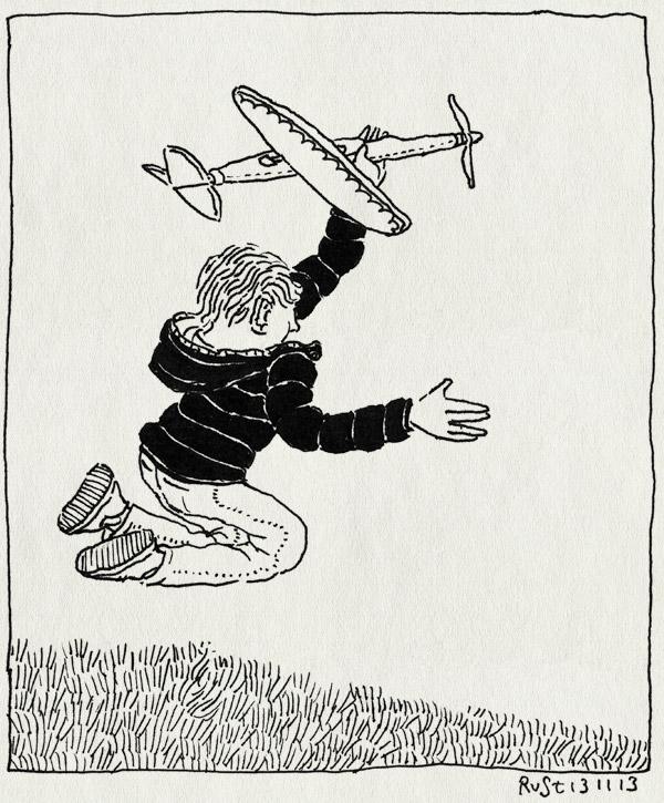tekening 2364, 7 vliegtuig, amstelpark, cadeau, elastiek, jarig, midas, verhjaardag, zeven
