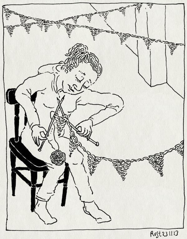tekening 2374, alwine, breien, feest, handgemaakt, martine, midas, slingers, verjaarda, vlaggetjes, voorbereiding, zelf, zelfgemaakt