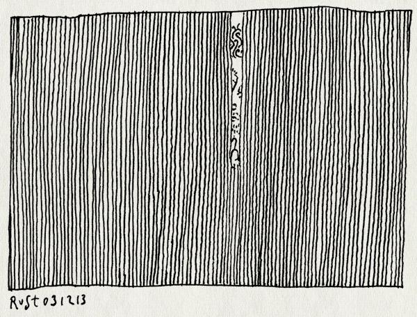 tekening 2384, humanize, kijken, spieken, streep, streepjes, vegen