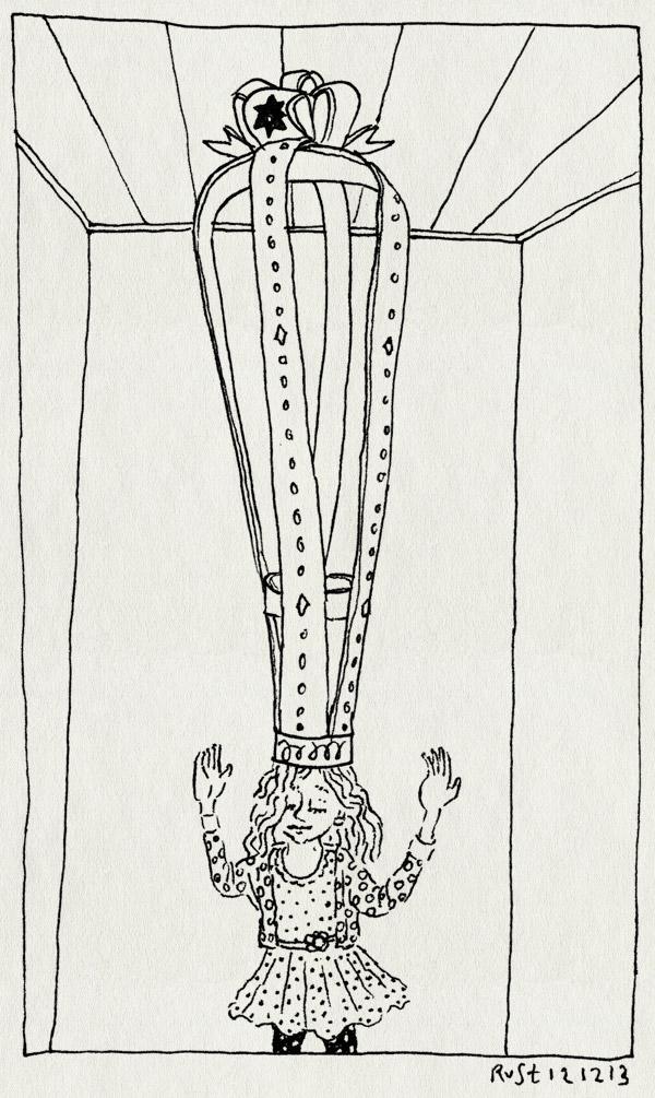 tekening 2393, 5, alwine, groot, jarig, kroon, school, verjaardag, vijf