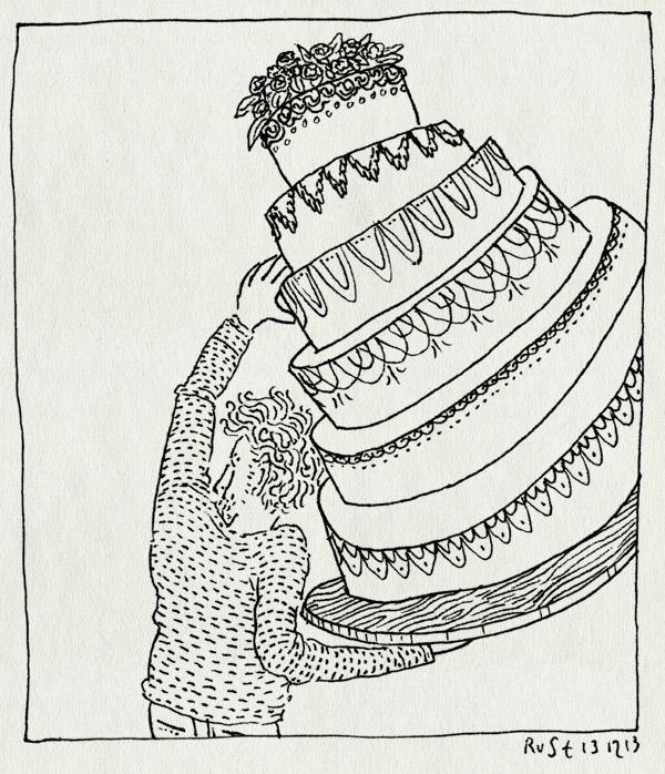 tekening 2394, big, cake, netflix, next great baker, show, taart
