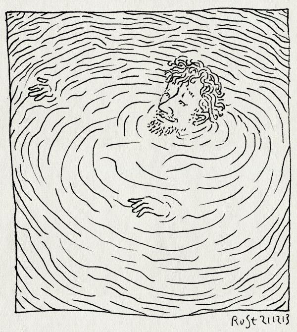 tekening 2402, bad, draaien, mirandabad, water, zwembad, zwemmen