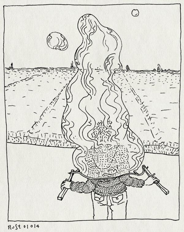 tekening 2413, bellenblaas, gevangen, groningen, megabellen, nieuwjaarsbellen, nieuwjaarsdag, uitzicht, westeremden