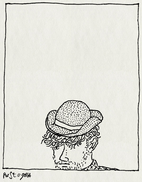 tekening 2421, dagelijks, hoedje, minimaal, niks