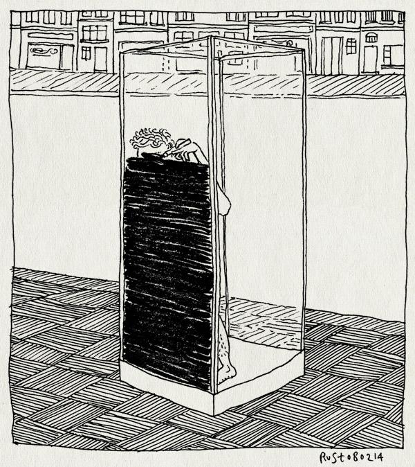 tekening 2451, amsterdam, etalage, exhibitionisme, expositie, glas, HEMA, naakt, raamtekenen, stift, straat, tekenen, zwart