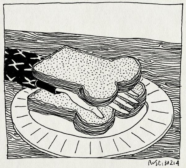 tekening 2456, boterham, boterhand, broodje, broodje hand, hand, sandwich
