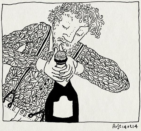 tekening 2457, 10e, blouse, champagne, feestje, martine, mijlpaal, plop
