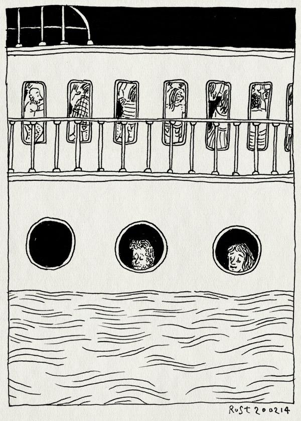 tekening 2463, 10 jaar, boot, ij, jubileum, martine, ocean diva, raampjes, schip, skrillex, tientellenrust, varen, water, wobwob