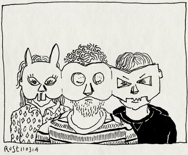tekening 2482, alwine, knutselen, masker, maskers, midas, papier