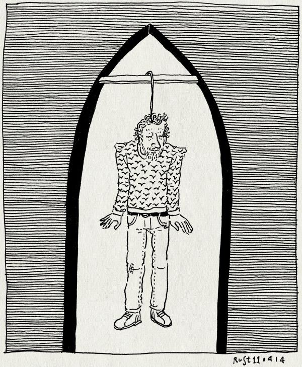 tekening 2513, bogen, galerij, haarlem, hangen, kleerhanger, refter, tentoonstelling, zelfportret