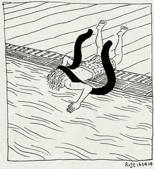 tekening 2518, de mirandabad, diepe, duiken, midas, worst, zwemles