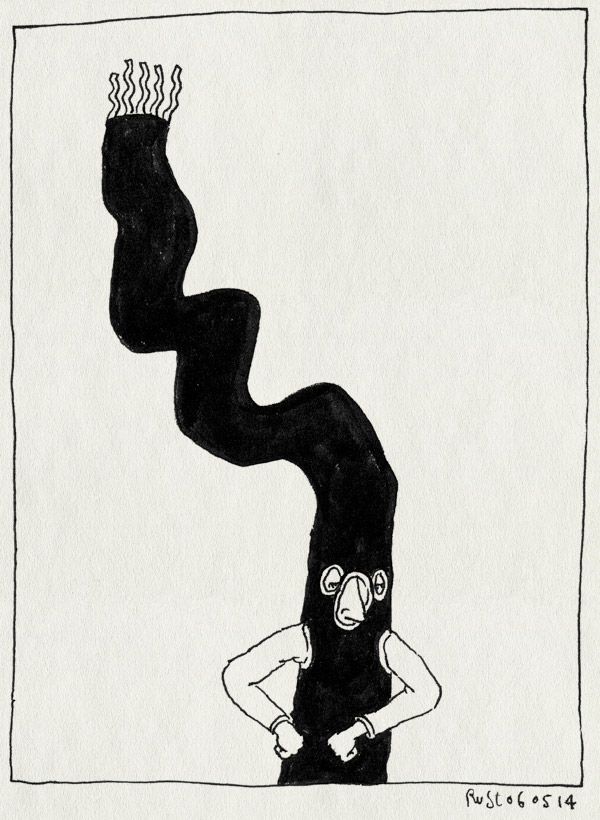 tekening 2538, inflatable arms man, juichen, ns, werk