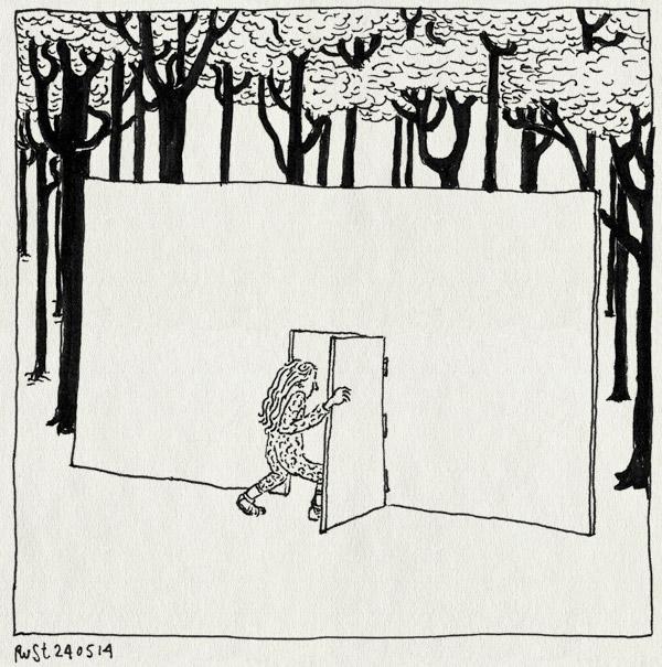 tekening 2556, alwine, amstelpark, bomen, deur, entree, kunst, kunstvlaai, park