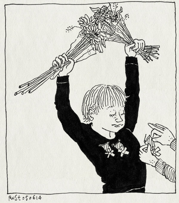 tekening 2568, alwine, avondvierdaagse, bloemen, derde, eerste, kruisje, medaille, midas, opspelden