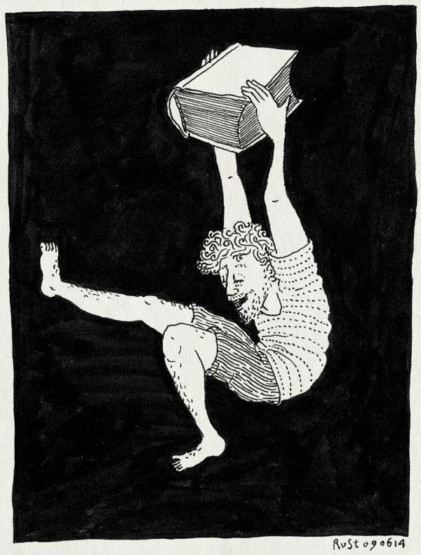 tekening 2572, 100 procent, 2500 dagen rust, boek, crowdfunding, feest, jippie, voordekunst, wohoo, yess