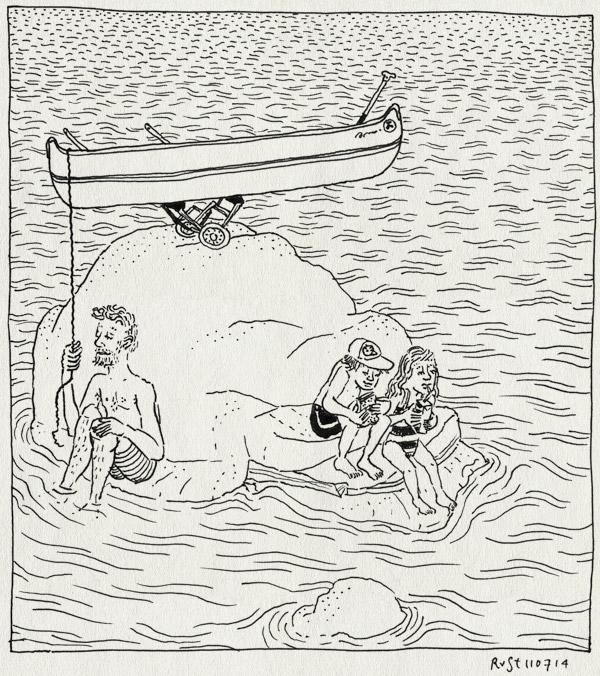tekening 2604, alwine, blomma, eiland, kano, kanoën, meer, meren, midas, ned blomsjön, pauze, rots, vakantie, vakantie2014, varen, värmland, zweden