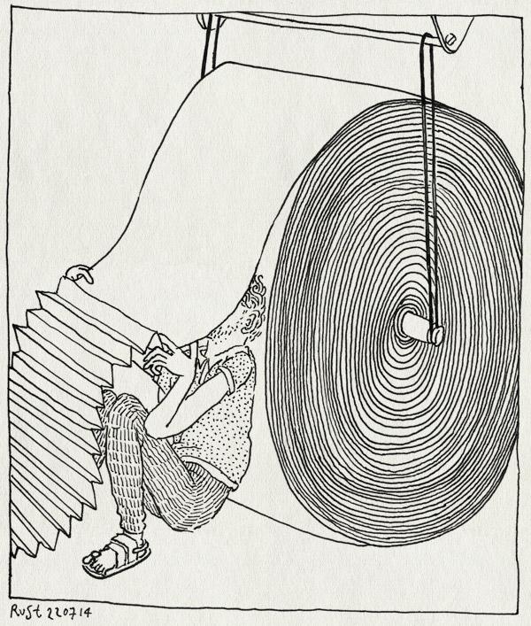 tekening 2615, 2500dagenrust, cpi, drukkerij, monnikenwerk, papier, rotatiedruk, vouwen, wohrmann