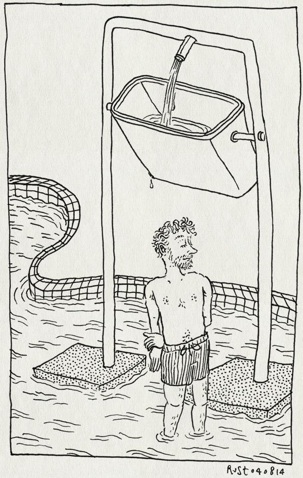 tekening 2628, amsterdam, buitenbad, de mirandabad, emmer, water, zwembad, zwembroek