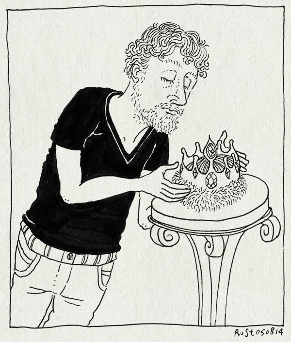 tekening 2629, abdicatie, einde, kroon, recensiekoning, stop, the end, troonsafstand
