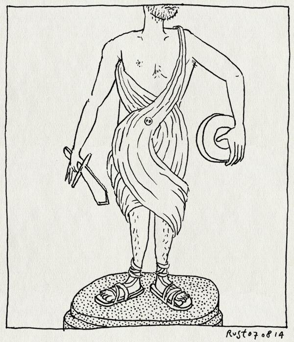 tekening 2631, allard piersonmuseum, gips, haalonsvanzolder, klassiek, standbeeld, zolder