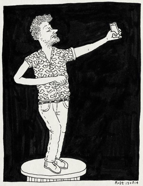 tekening 2637, affiche, klassieker, pieter derks, selfie, sokkel, voorstel