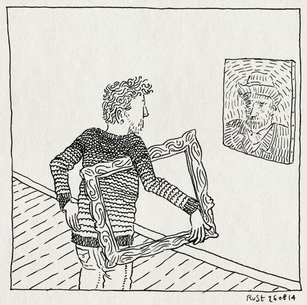 tekening 2650, kijken, lijst, museum, van gogh, vangoghmuseum