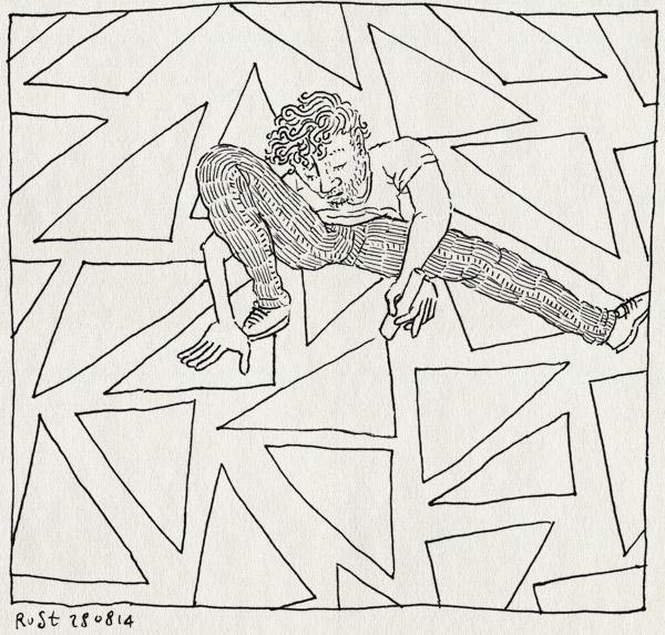 tekening 2652, driehoek, driekoeken, jeugdcultuurfonds, krijten, stoepkrijt, tekenen