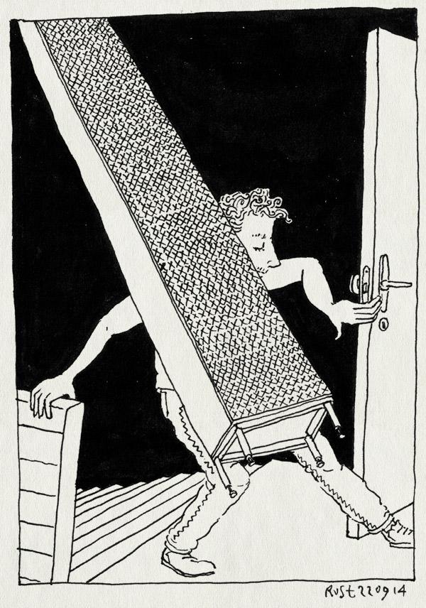 tekening 2677, badkamerkast, kast, kastje, marktplaats, tillen, trap