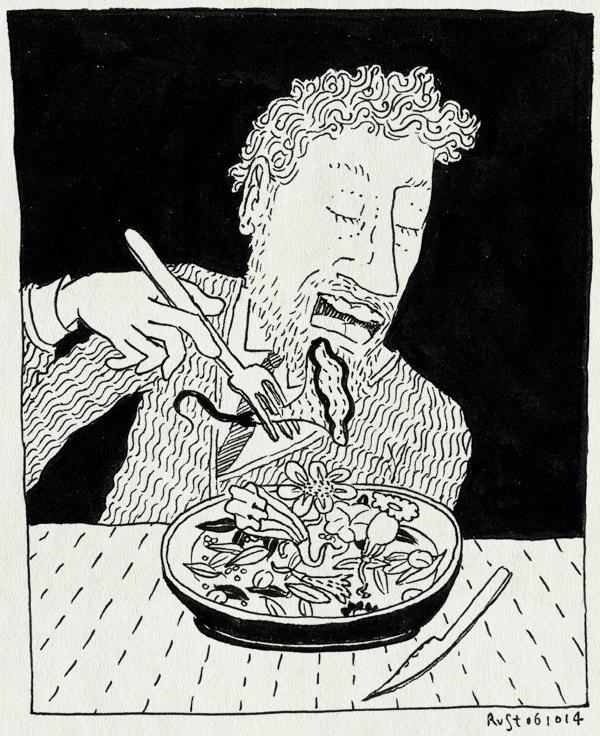 tekening 2691, bloemen, lekker, mooi, restaurant, ster, vegetarisch, vegetarische restaurantweek, vork en mes