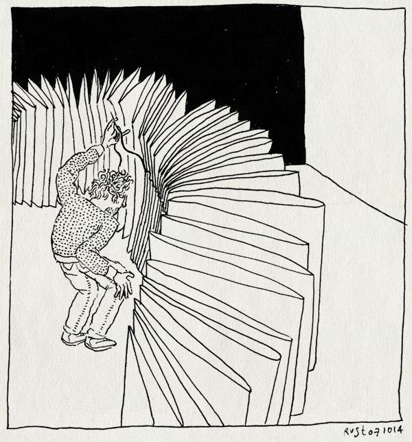 tekening 2692, 2500 dagen rust, boek, dikte, formaat, naaien, problemen, snijden
