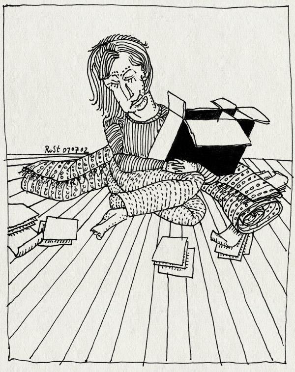 tekening 30, agnes, doos, papieren, verhuizing, weemoed